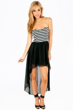Lydia Bustier High Low Dress $30 at #Tobi #cute