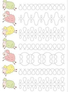 Preschool Writing, Numbers Preschool, Teaching Cursive Writing, Preschool Learning Activities, Teaching Kids, Kindergarten Math Worksheets, Math For Kids, Kids Education, Barn