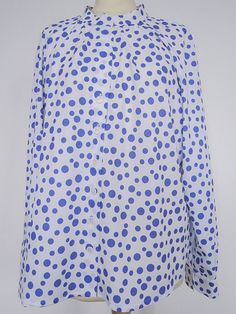Excited to share the latest addition to my #etsy shop: Women White blouse Plus Size UK 16 + White Shirt Dots Long sleeves Womens Clothing, White Blouse Secretary Shirt Plus size Ladies Shirt https://etsy.me/2Jdzazz #clothing #women #blouse #white #purple #plussize #whi
