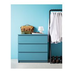 MALM Chest of 3 drawers - turquoise - IKEA
