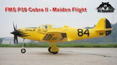 FMS P39 Cobra II Electric RC Racing Plane Maiden Flight