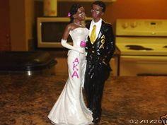 ALPHA KAPPA ALPHA & ALPHA PHI ALPHA Greek Wedding Statue