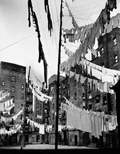 Court of the First Model Tenement, 12th Street and 1st Avenue, New York, 1936, by Berenice Abbott