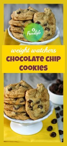 weight watchers chocolate chip cookies INGREDIENTS: 6 tablespoons light butter, softened (I use Land O'Lakes) ½ cup + 2 tablespoons packed. Ww Desserts, Healthy Desserts, Delicious Desserts, Healthy Recipes, Weight Watcher Cookies, Weight Watchers Desserts, Healthy Treats, Yummy Treats, Sweet Treats
