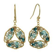 Michelle Pressler Earrings Labradorite and Blue Tourmaline 2846, Artistic Artisan Designer Jewelry