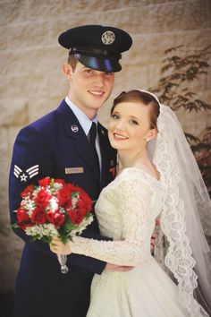 Flashback Summer: Wedding Pictures, First Post!  retro 1940s military Air Force wedding photo shoot