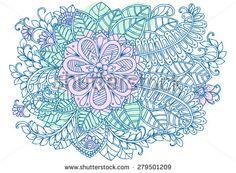 Nice doodle floral pattern