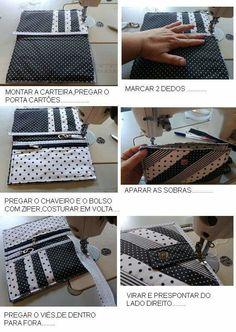 Beautiful Photo of Sewing Wallet Pattern Free Sew Wallet, Fabric Wallet, Handmade Wallets, Handmade Bags, Bag Patterns To Sew, Sewing Patterns, Wallet Sewing Pattern, Fabric Book Covers, Simple Wallet