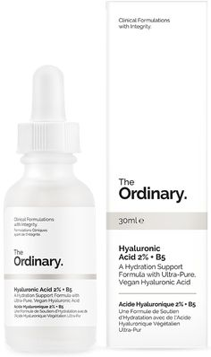 Hyaluronic Acid 2% + B5 -  PM  Example regimen for general signs of age: AM: Buffet, Hyaluronic Acid 2% + B5;