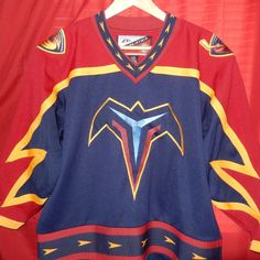 4e0bb42b5 Vintage Pro Player YOUTH Atlanta Thrashers Hockey Jersey L NHL Sewn  Winnipeg #ProPlayer #AtlantaThrashers