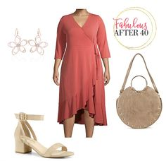 Here are some of the latest styles for curvy gals on a budget to make you look sensational this spring. Check out these trendy plus size outfits for spring at Walmart Fashion.  #FabulousAfter40 #womensfashion #over40 #plussize #styletips #outfitideas #springstyle #wrapdress
