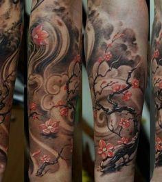 Cherry Blossom, Epic Background #ink #tatt