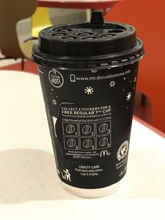 McDonalds in UK have loyalty cards on their coffee cups