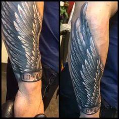 Invictus Anima , the unconquerable soul. #inked #ink #tattoo @tiborvogelart Tattoos Masculinas, Engel Tattoos, Badass Tattoos, Feather Tattoos, Forearm Tattoos, Life Tattoos, Body Art Tattoos, Sleeve Tattoos, Tattos