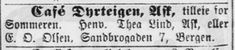 Annonse i BT 1905.