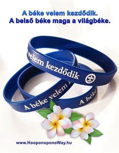 Már magyar nyelvű karkötők is kaphatók. Felirata: A béke velem kezdődik. Szerepel rajta a Ho'oponopono béke-szimbóluma is, a liliomvirág. Ha rendelni szeretnél, írja a hawaii@hooponoponoway.hu címre. Hawaii, Bracelets, Leather, Accessories, Ideas, Bracelet, Hawaiian Islands, Thoughts, Arm Bracelets