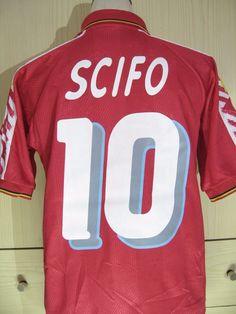 ENZO SCIFO BELGIUM WORLD CUP 1994 DIADORA FOOTBALL SHIRT SOCCER JERSEY M  b21d41e48