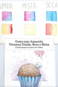 Como usar Aquarela, técnicas úmida, seca e mista. Tutorial passo-a-passo de como aplicar técnicas de aquarela, por Rodrigo Falco.