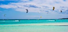 Kite surf in Sardegna, Italy.  When I saw pictures of this my brother and dad took on their trip I was mesmerized.  Italy is a dream of mine, this is just a piece of it.