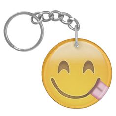 Face Savouring Delicious Food Emoji Key Chain