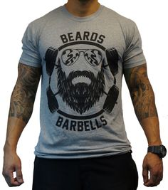Project X Beards and Barbells - Black on Heather Gray