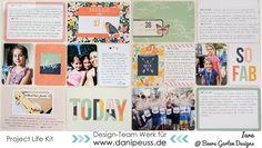 Projekt Life Seite mit dem #dpNovemberkit16 von Iara für www.danipeuss.de #simplestories