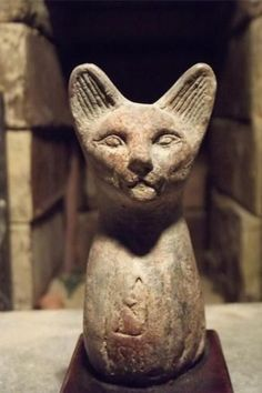 Egyptian Cat Statue of Bast Bastet A Goddess of Music Dance Joy Hunting Cats In Ancient Egypt, Ancient Egyptian Deities, Ancient Egypt Civilization, Ancient Artifacts, Ancient Civilizations, Ancient History, Egyptian Mythology, Egyptian Cats, Cat Statue
