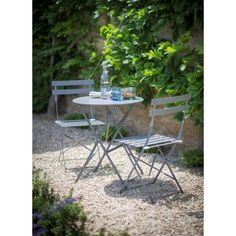 Classically stylish and originally designed the Garden Trading Rive Droite Bistro Set is perfect for any summer BBQ, soiree, afternoon tea Outdoor Tables And Chairs, Outdoor Rooms, Outdoor Living, Outdoor Decor, Garden Table And Chairs, Outdoor Ideas, Wood Patio Furniture, Outdoor Garden Furniture, Ikea Furniture