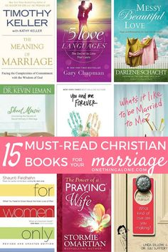 15 must-read Christian books for your marriage. I've read most of these and they're SO good!