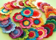 colorful 'grannies'