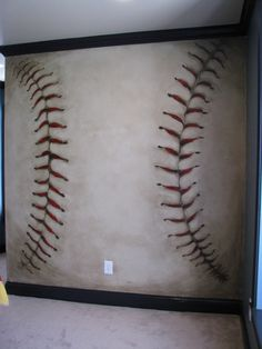 Baseball anyone?? This is a mural!! Awesome.