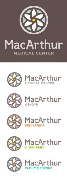 MacArthur Medical Center Logo Family by Marstudio © www.marstudio.com - Medical Logo - Healthcare Logo - Logo Family