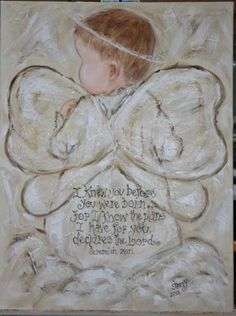 Angel Original Textured Painting in Acrylic on by SherryAveritt. $100.00, via Etsy.