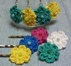 花モチーフdeアクセサリーの作り方|編み物|編み物・手芸・ソーイング|ハンドメイド | アトリエ