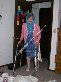 Homemade Grandma Costume: I needed to make a costume because I was limited with money.  I am a college student who wanted to be funny so I decided to put together an outfit my grandmother