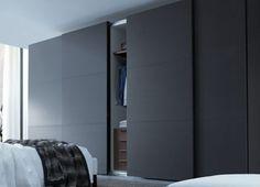 Trendy ideas for sliding door wardrobe design modern Sliding Door Wardrobe Designs, Sliding Door Design, Modern Sliding Doors, Closet Designs, Modern Closet Doors, Sliding Door Closet, Sliding Bedroom Doors, Sliding Wall, Modern Wardrobe