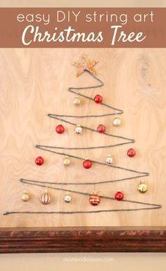 Easy DIY String Art Christmas Tree
