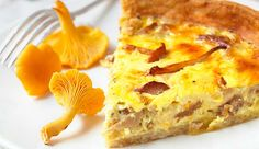 Her finner du kantareller Quiche, Mashed Potatoes, Vegetarian Recipes, French Toast, Bacon, Breakfast, Ethnic Recipes, Food, Sunshine