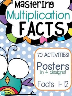 Multiplication Posters and Activities Page Plus, Multiplication Facts, 3rd Grade Math, Morning Work, Elementary Math, Science Activities, Anchor, Students, Teacher