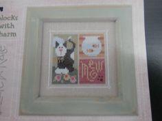 Handmade Unframed Meow Cross Stitch Cat Cat by CustomCraftJewelry