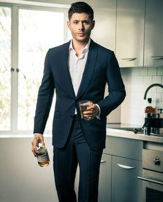 "Jensen holding a glass * SIGH* <3 HOTTIE <3 #JensenAckles #Supernatural. Unpublished Harper's Bazaar China Jensen photoshoots. If you want to repost, ""please credit Jensen China fanclub (http://weibo.com/jensen001)."""