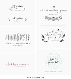 ***FEATHER LOGO IS BOMB. I think a fear would be a super cool logo image because it implies nature without having to have everything be plant based** Blog Design, Graphic Design Inspiration, Web Design, Typography Design, Branding Design, Kids Branding, Menta Chocolate, Logo Floral, Logos