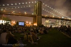 Cinéma en plein air à DUMBO, Brooklyn - New York Mania ! « New York Mania !