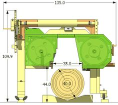 """14"""" Bandsaw / bandmill specifications"""
