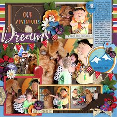 Cindy's Layered Templates - Half Pack 182: Page Fillers 19 by Cindy Schneider Believe in Magic Love Adventure Collection by Amber Shaw & Studio Flergs