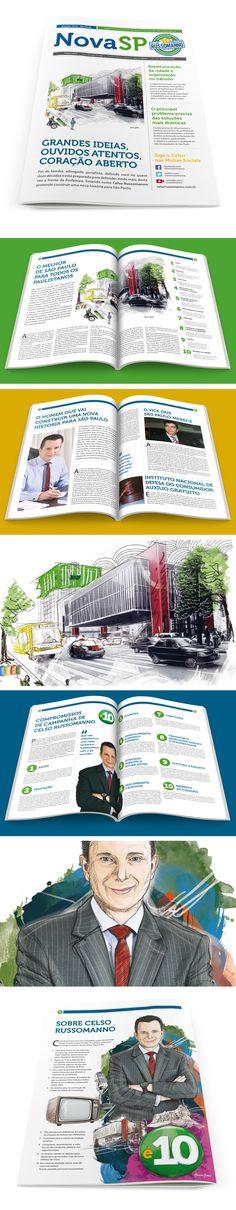 Criação do tablóide para o candidato a prefeitura de São Paulo Celso Russomanno.