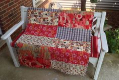 """Asian Blossom Lap Quilt uses just six fat quarters and measures approx. 40""""x52""""."""