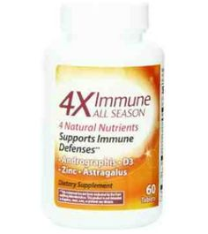 4X Immune All Season, 60 Count for FREE!