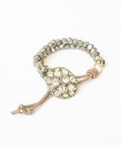 Pyrite Leather Bracelet ~ #silvanasagan #jewelry #bracelet #leather #gemstone #bohemian #boho #southwest