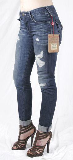 TRUE RELIGION Womens Julie Super T Brights Jeans, 11 Lonestar ...